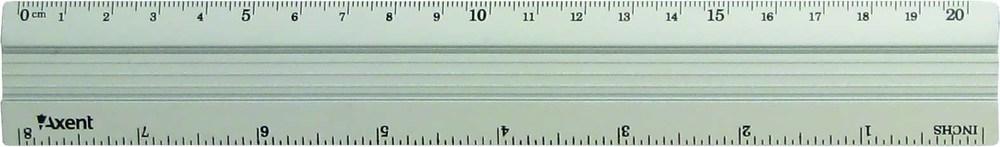 Линейка 20 см алюминиевая Axent