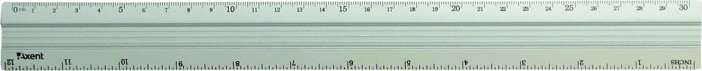 Линейка 30 см алюминиевая Axent