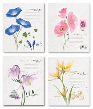 Тетрадь 18л, линия, 001 Цветы