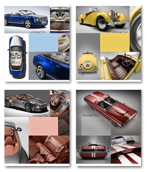 Тетрадь 18л, линия, 011 Luxury cars