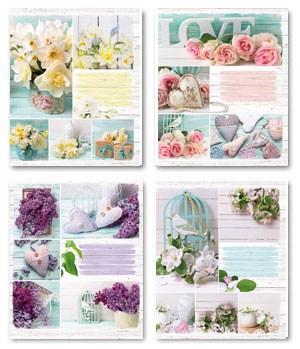 Тетрадь 24л, линия, 021 Цветы прованс