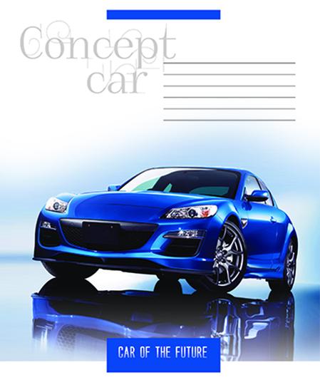 Тетрадь 36л, клетка, 932 Concept car