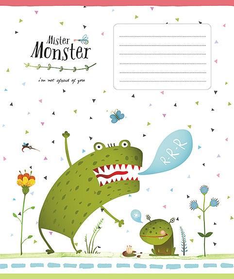Тетрадь 12л, линия, 2249 Mister Monster, Star