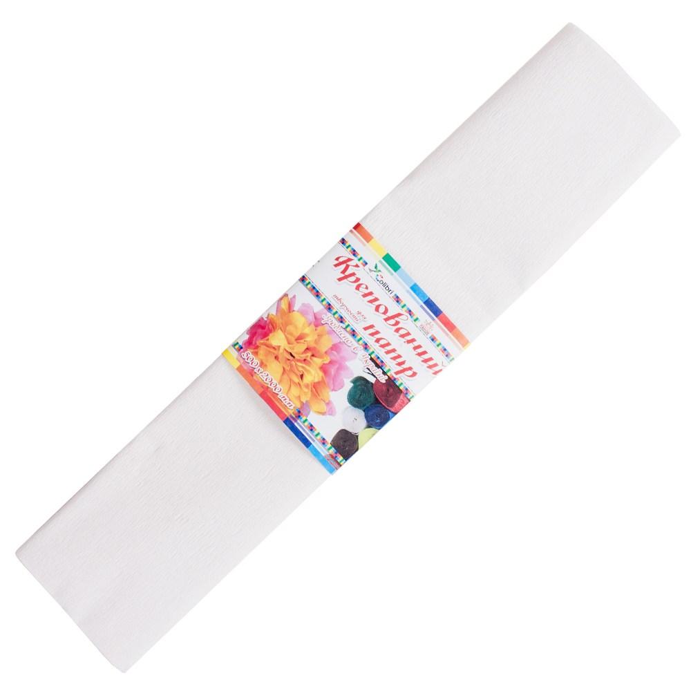 Бумага гофрированная №1, белая 50*200 см (Мицар)