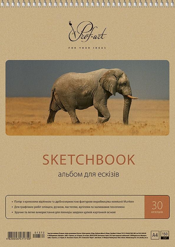 Альбом для рисования 30 л., крафт-картон, MUSE, 140
