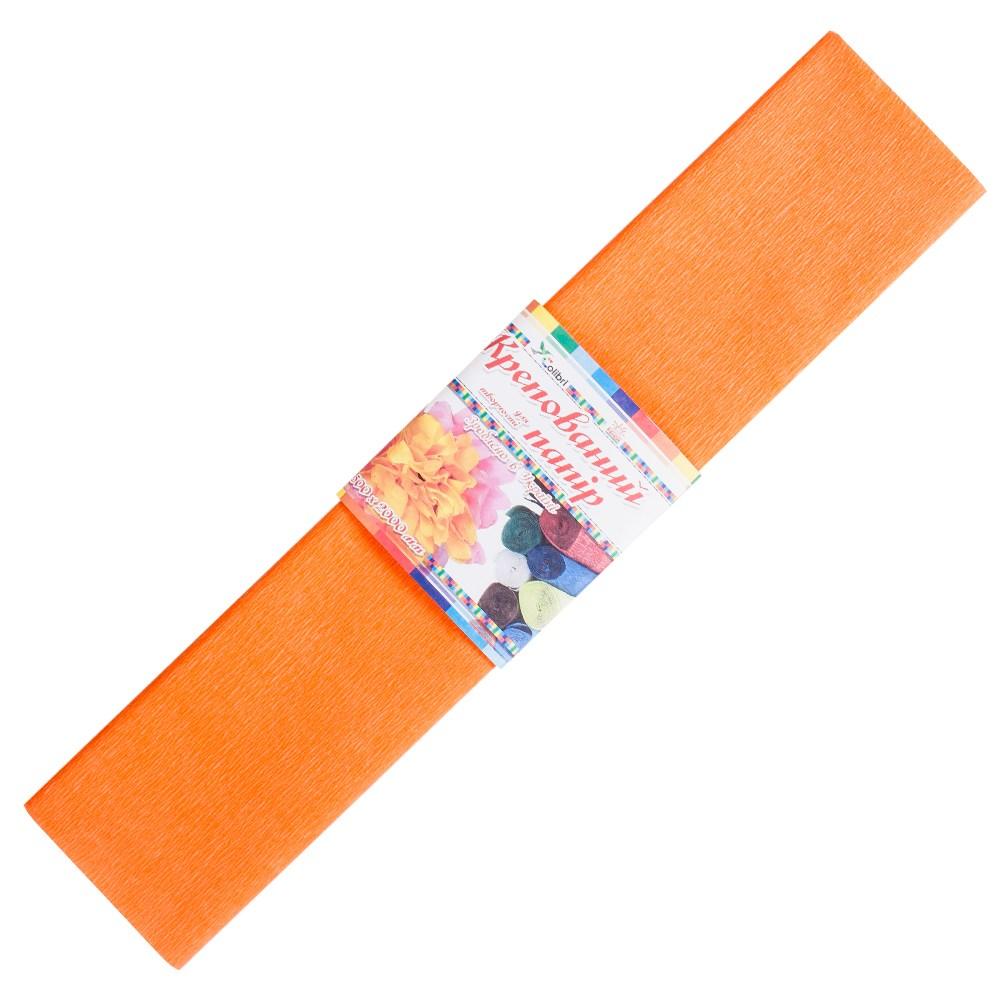 Бумага гофрированная №3, оранжевая 50*200 см (Мицар)
