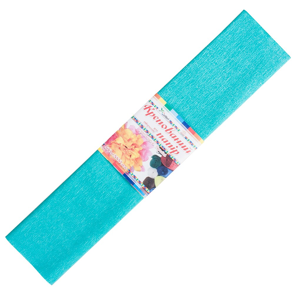 Бумага гофрированная №7, бирюзовый  50*200 см (Мицар)