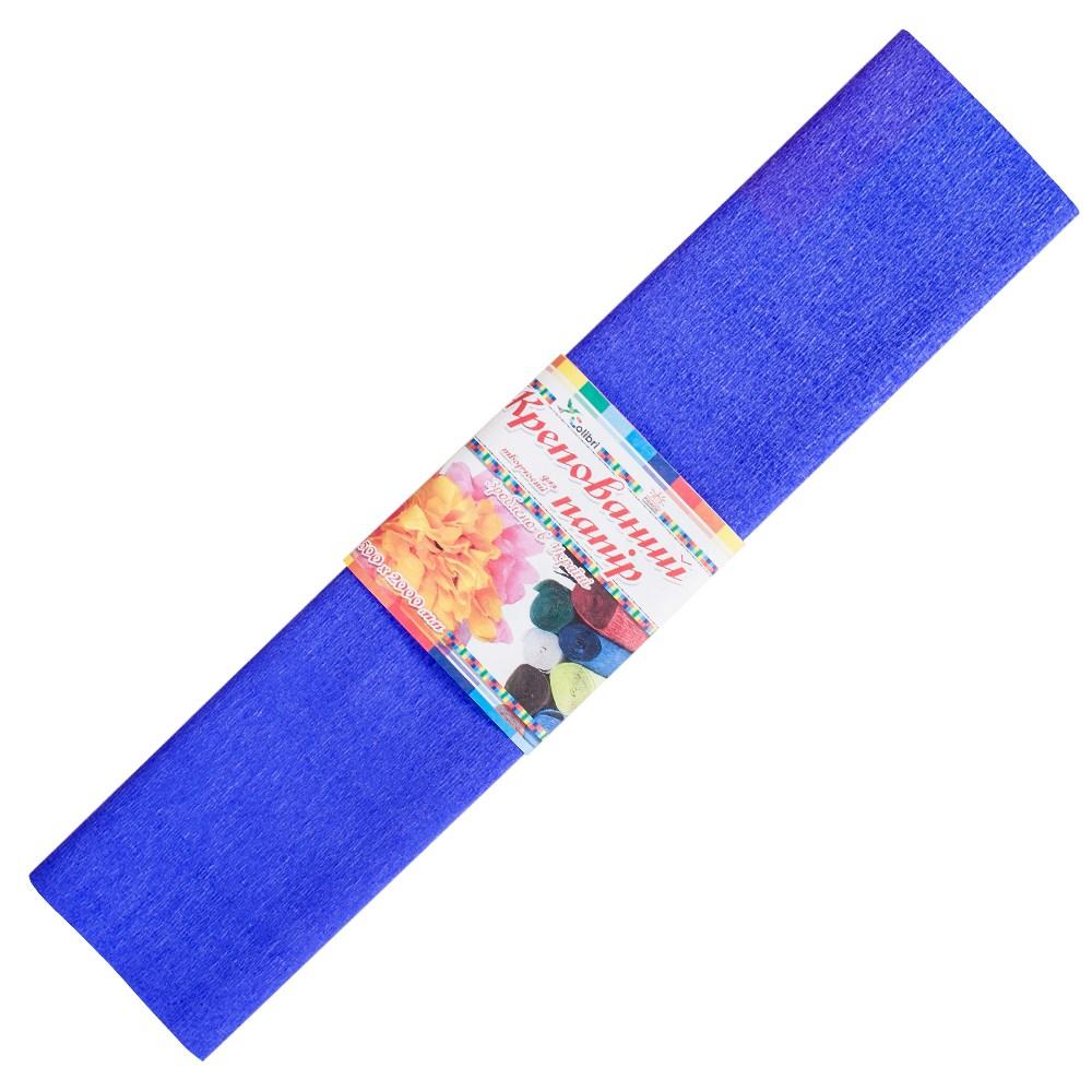 Бумага гофрированная №8, фиолетовая  50*200 см (Мицар)
