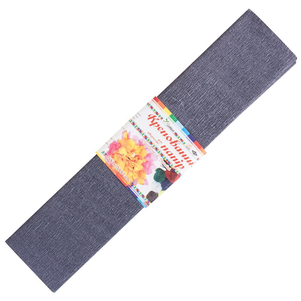 Бумага гофрированная №10.1, светло-серая 50*200 см (Мицар)