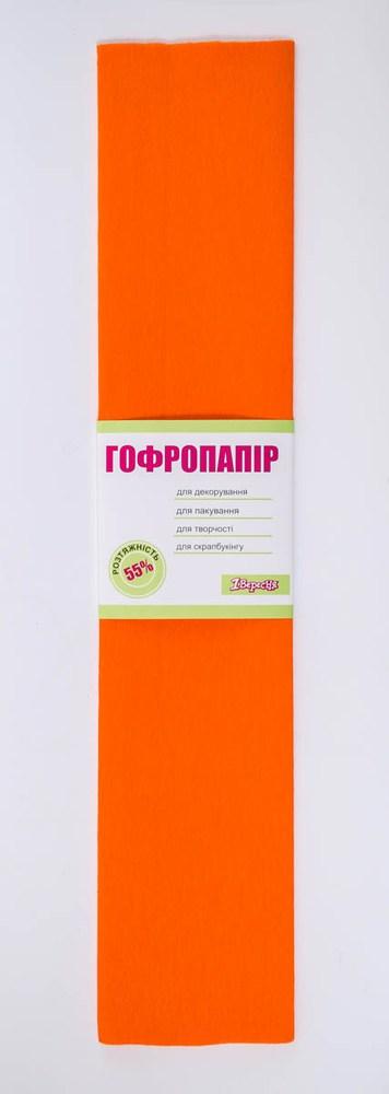 Бумага гофрированная оранж, 1лист, 50*200 см