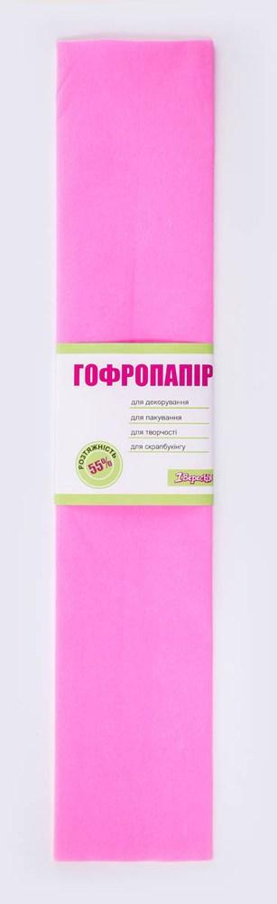 Бумага гофрированная розовая, 1лист, 50*200 см