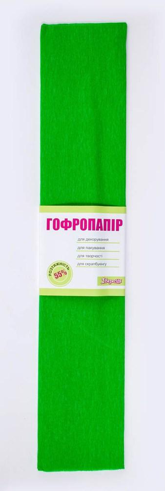 Бумага гофрированная светло-зелен., 1лист, 50*200 см