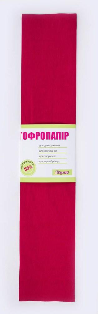 Бумага гофрированная бордо., 1лист, 50*200 см