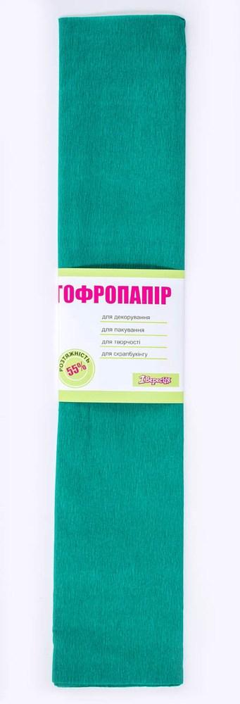 Бумага гофрированная зелен., 1лист, 50*200 см