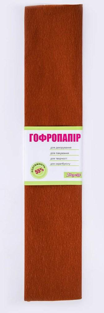 Бумага гофрированная коричн., 1лист, 50*200 см