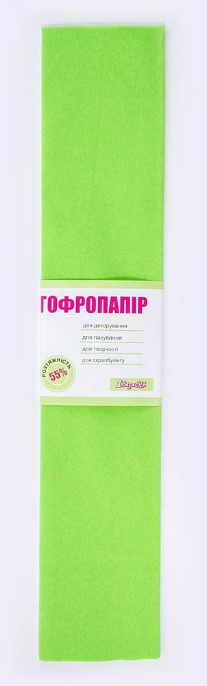 Бумага гофрированная салатов., 1лист, 50*200 см