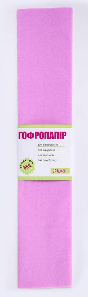 Бумага гофрированная св. сиренев., 1лист, 50*200 см