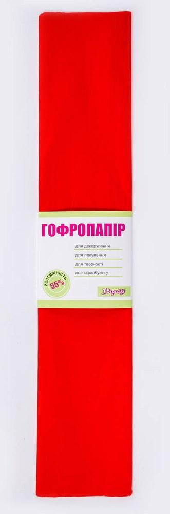 Бумага гофрированная т-красная, 1лист, 50*200 см