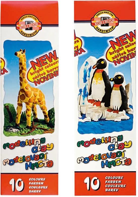 Пластилин Пингвины 10 цв. 200 г, стеки, картон