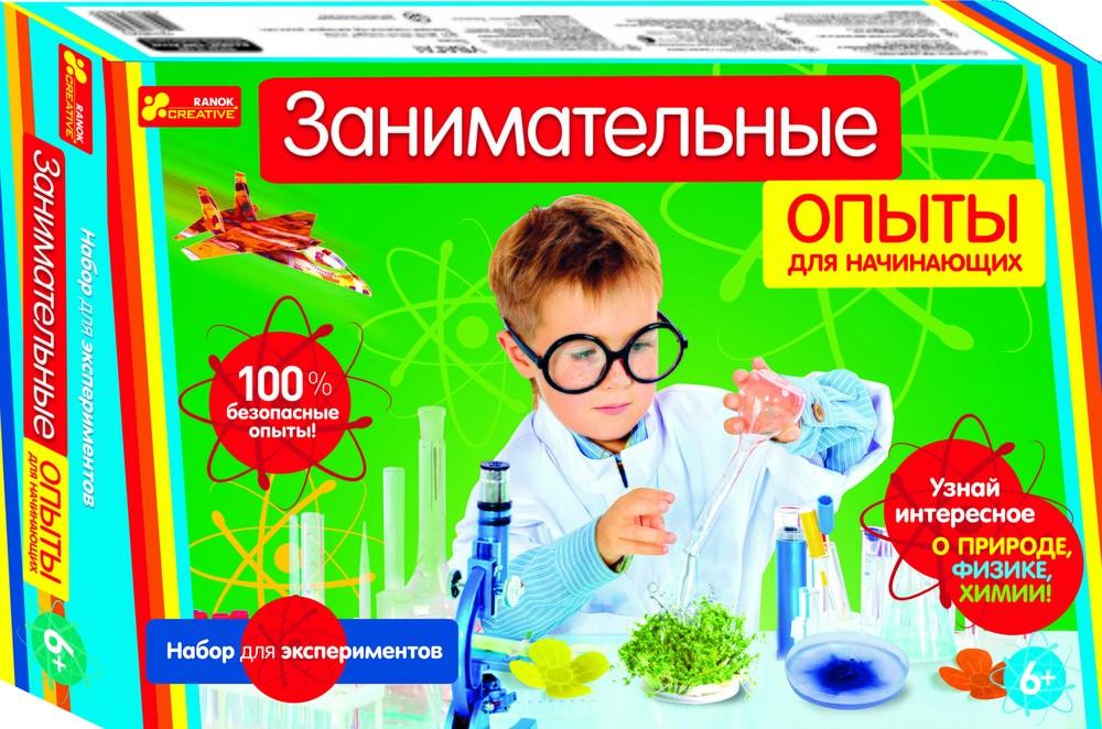 Набор для экспериментов Занимательные опыты для начинающих 0389