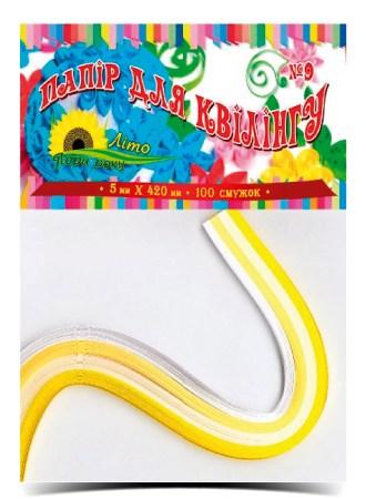 Бумага цветная для квиллинга № 9, 5 мм х 420 мм, 4 цвета, 100 полосок, обложка - цветная, целлюлозны
