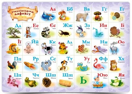 Учебное настольное пособие Алфавит украинский