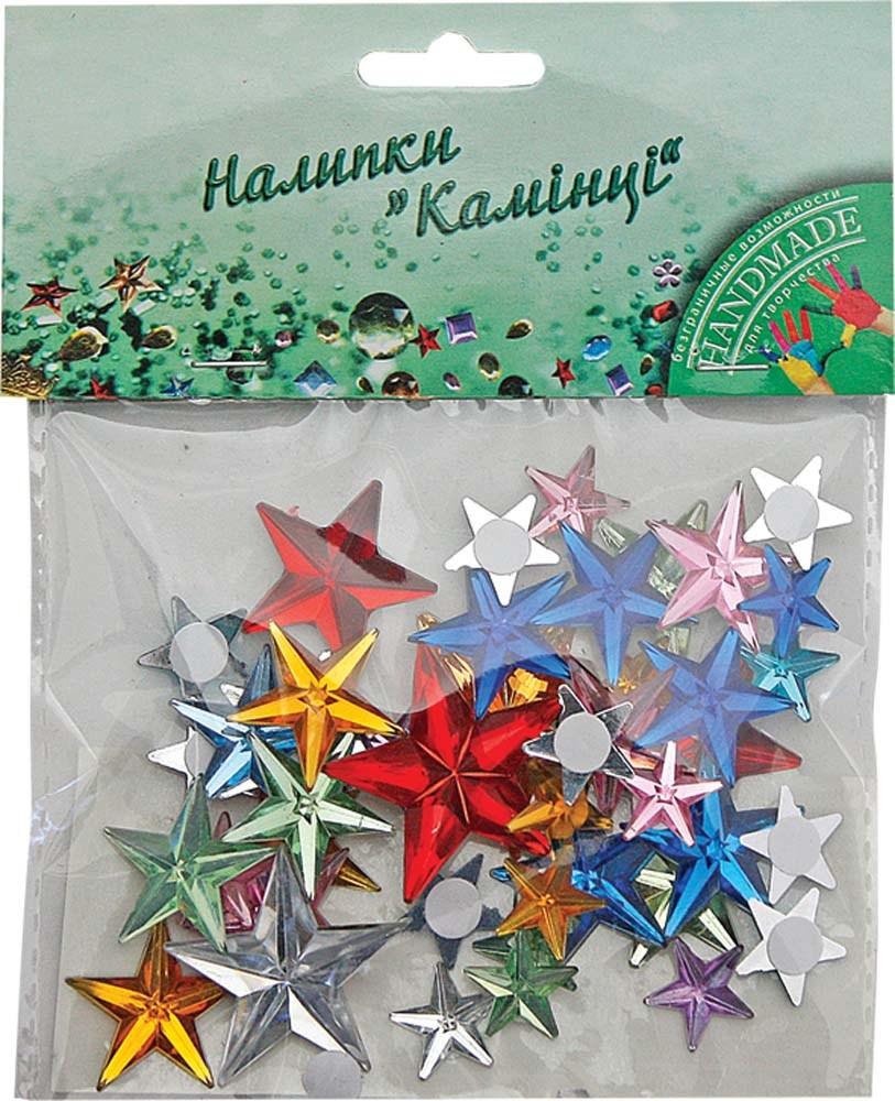 Набор для детского творчества  Наклейки камешки декоративные пласт. 40 шт