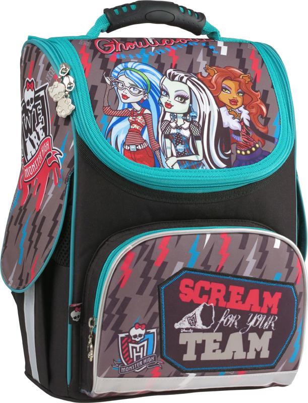 Рюкзак школьный каркасный 501 Monster High-2