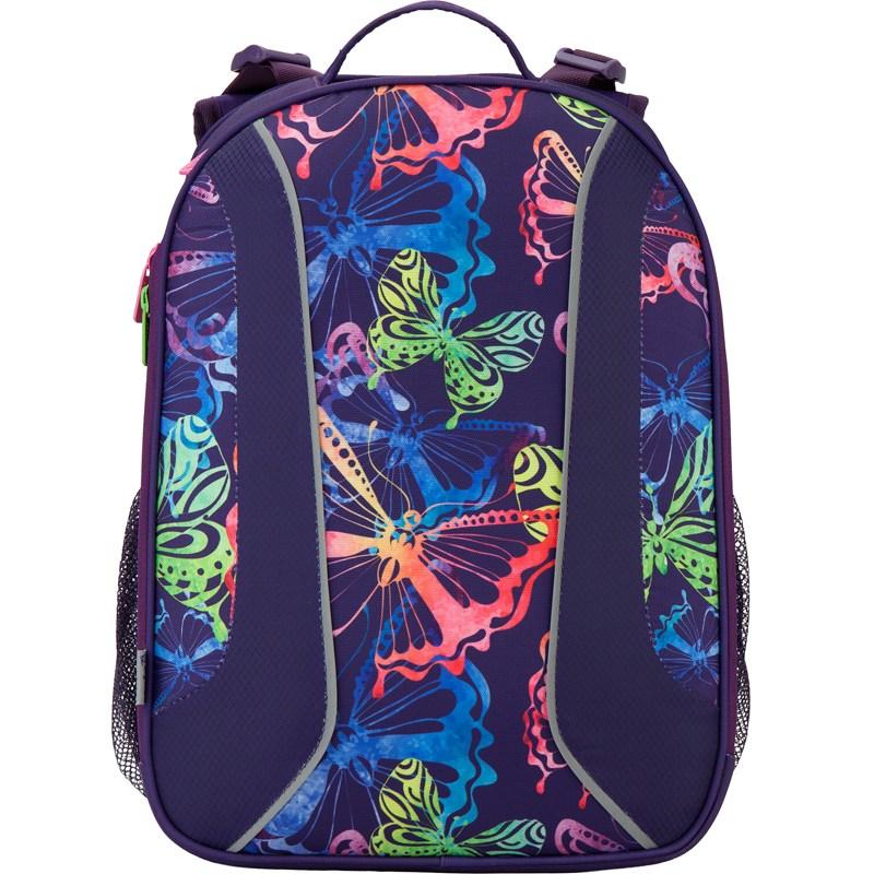 Рюкзак школьный каркасный 703 Neon butterfly