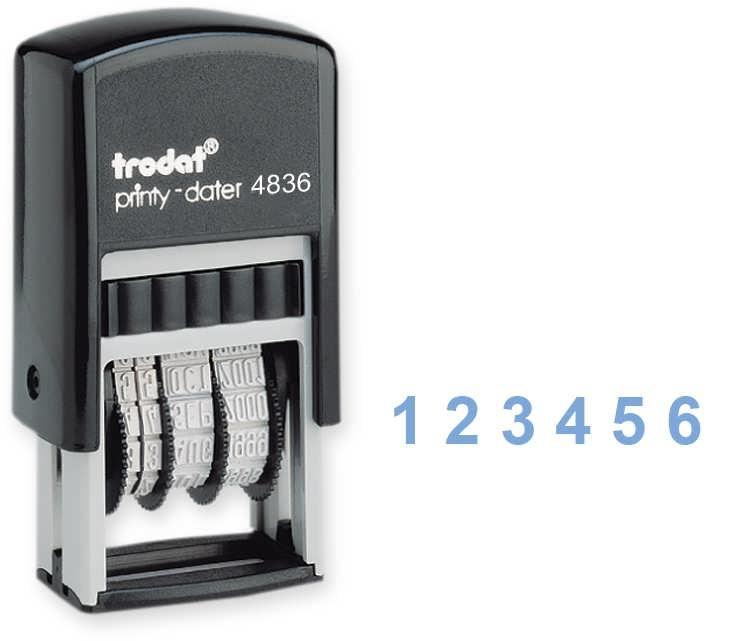 Нумератор 6-разрядный, 3,8мм