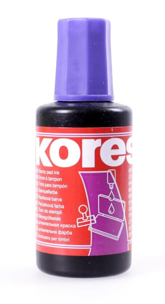 Штемпельная краска 27 мл Kores фиолетовая