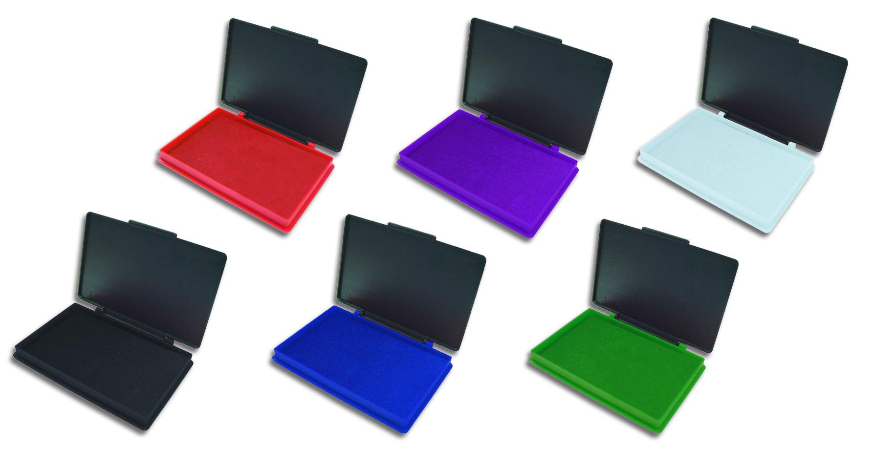 Штемпельная подушка 7х11 Kores фиолетовая, пластик
