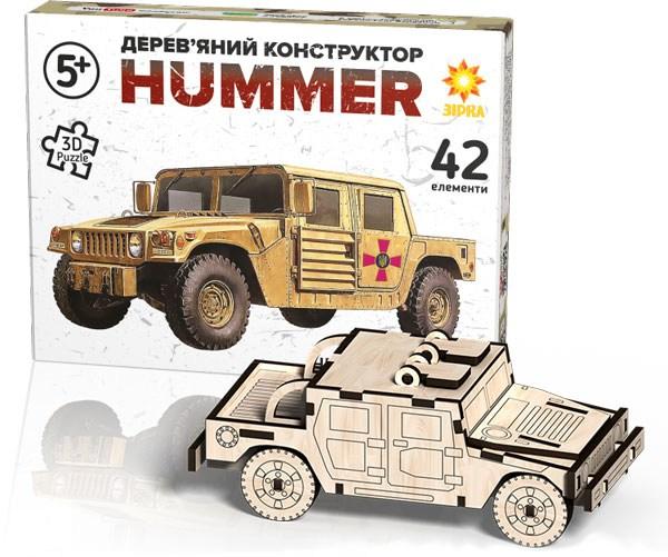 Деревянный конструктор Джип Хаммер