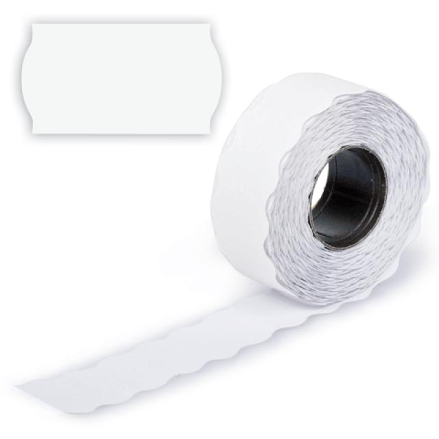Этикет-лента белая - фигурная 12 м