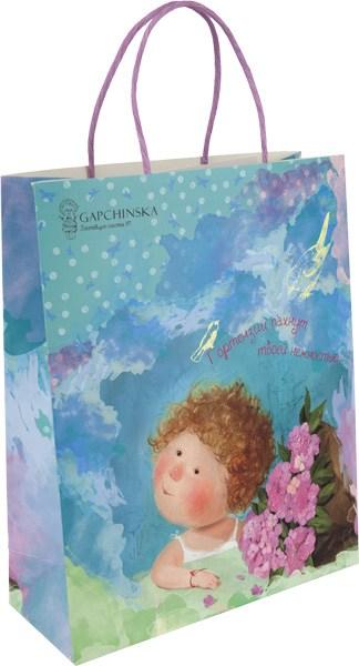 Пакет бумажный подарочный Gapchinska, 26х32см