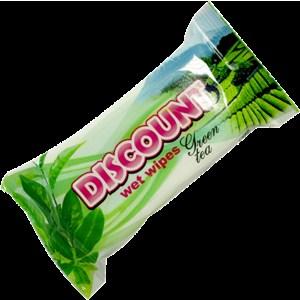 Салфетки влажные DISCOUNT 15 шт Зеленый Чай