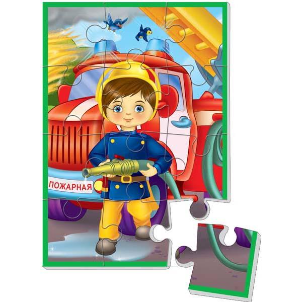 Мягкие пазлы А5. Мальчик пожарний
