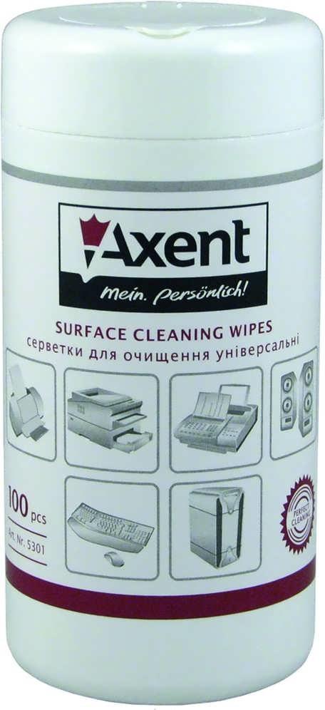 Салфетки для оргтехники влажные 100 шт. Axent