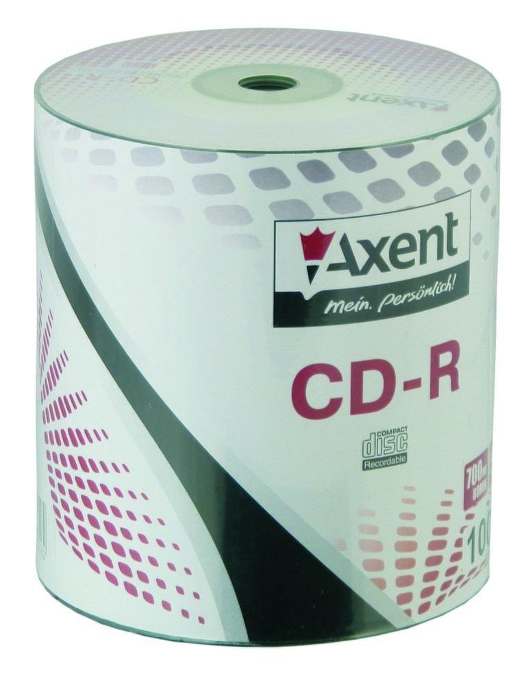 Компакт-диск CD-R 700MB/80min 52X, 100 шт, bulk