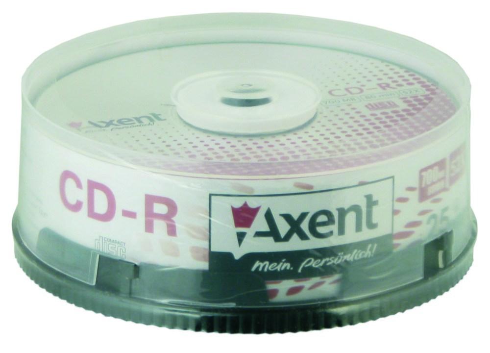 Компакт-диск CD-R 700MB/80min 52X, 25 шт, cake