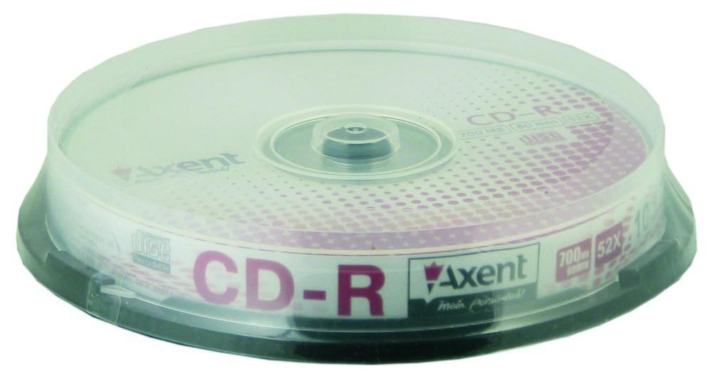 Компакт-диск CD-R 700MB/80min 52X, 10 шт, cake