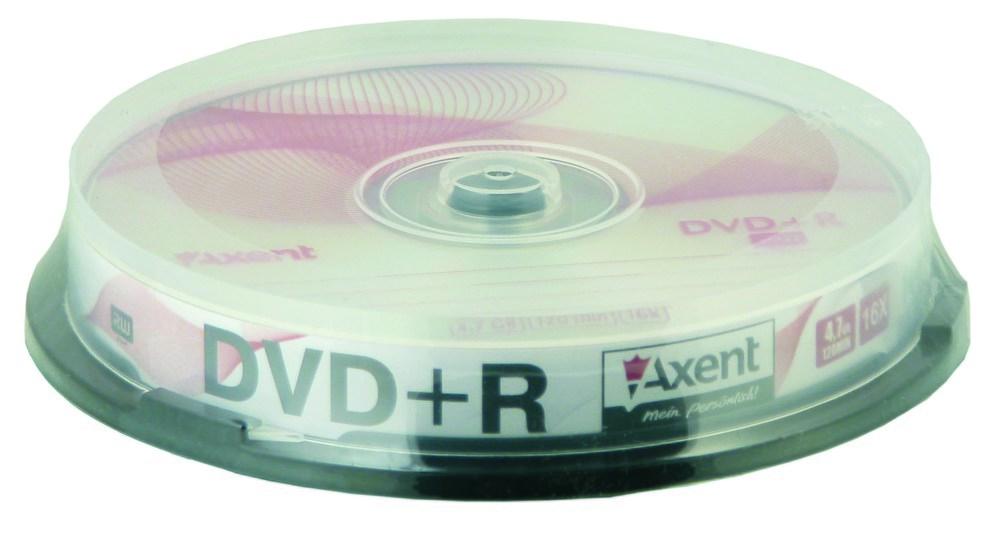 Компакт-диск DVD+R 4,7GB/120min 16X, 10 шт, cake