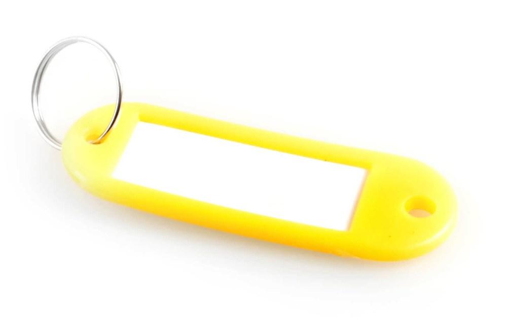 Брелок пластиковый для ключей 60*20