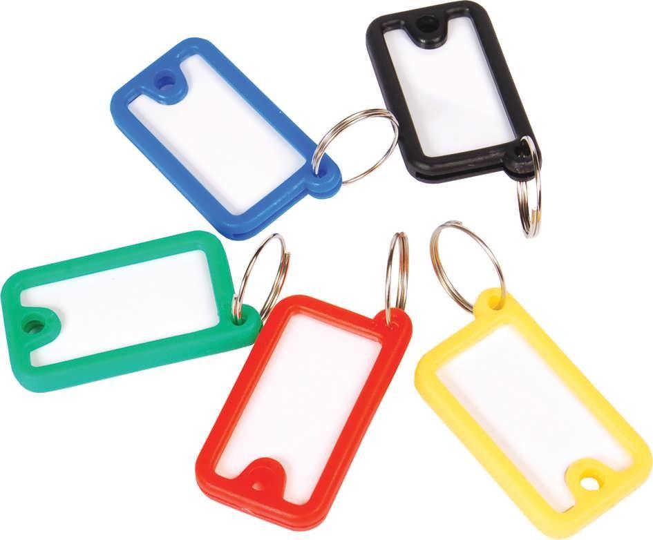 Брелок для ключей пластиковый, 45*26, окно для надписи