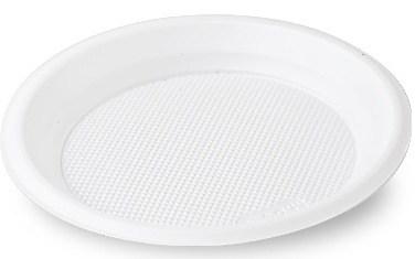 Тарелка пластмассовая 205 (уп=100шт)
