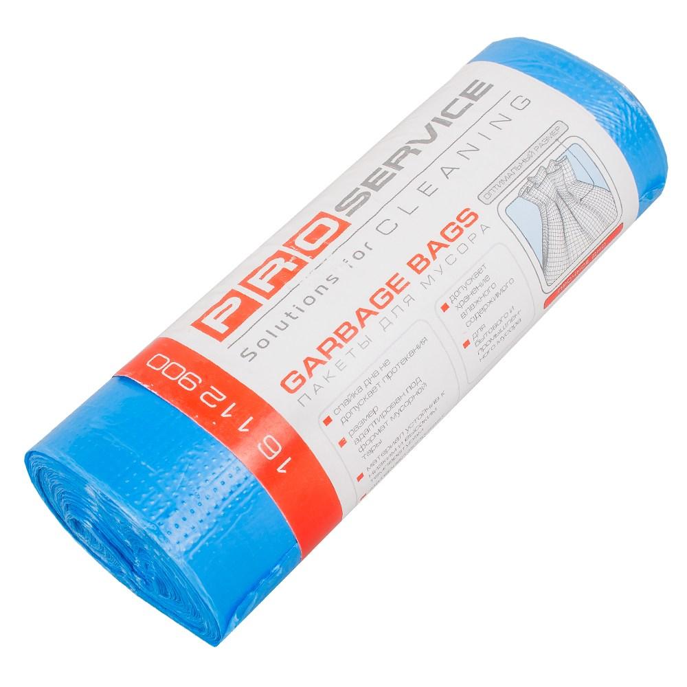 Пакеты для мусора PRO 35л*30шт.синие
