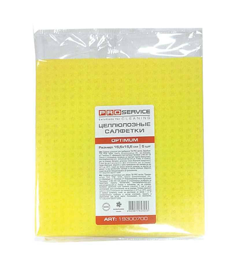 Салфетки влаговпитывающие целлюлозные PRO OPTIMUM 15,5х15,5см 5 шт/уп.